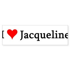 I Love Jacqueline Sticker (Bumper 10 pk)