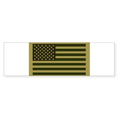 American Flag Sticker (Drab) Sticker (Bumper 10 pk)