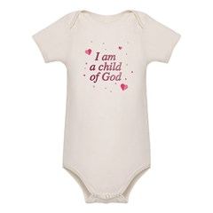 Child of God Infant Creeper Organic Baby Bodysuit