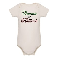 """Commit or Rollback"" Infant Creeper Organic Baby Bodysuit"