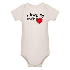 I Love My Aunt Infant Creeper Organic Baby Bodysuit