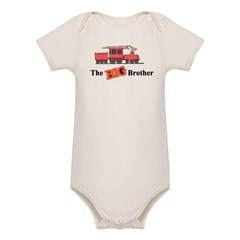 Big Brother - Trains Organic Baby Bodysuit