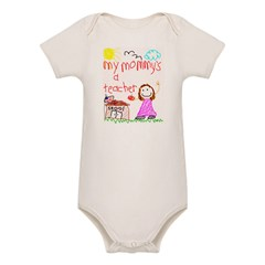 Teacher Mommy! Organic Baby Bodysuit