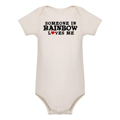 Rainbow: Loves Me Infant Creeper Organic Baby Bodysuit