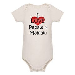 I Love Papaw & Mamaw Infant Creeper Organic Baby Bodysuit