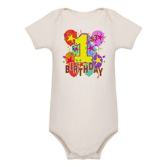 BIRTHDAY 1 Organic Baby Bodysuit