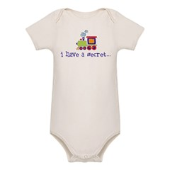 big brother secret train front/back Kids Organic Baby Bodysuit