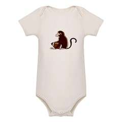 Football Monkey Organic Baby Bodysuit