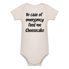 Feed me Cheesecake Organic Baby Bodysuit