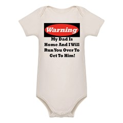 warning daddy Organic Baby Bodysuit