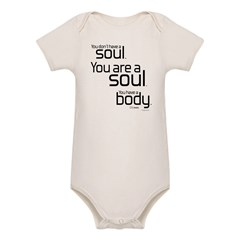 You Are A Soul Organic Baby Bodysuit