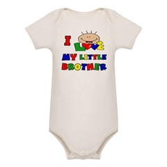 Love My Little Brother BRIGHT Organic Baby Bodysuit