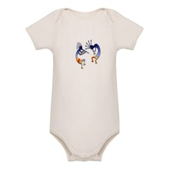Two Kokopelli #68 Organic Baby Bodysuit