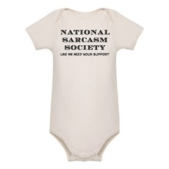 National Sarcasm Organic Baby Bodysuit
