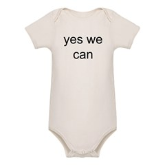 obama yes we can Organic Baby Bodysuit