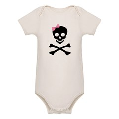 little (girl) pirate Organic Baby Bodysuit