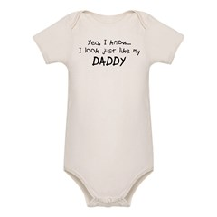 Just like Daddy Organic Baby Bodysuit