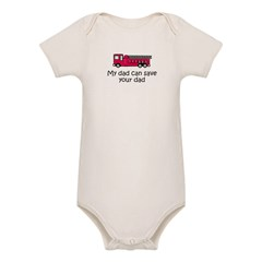 My dad can save your dad Organic Baby Bodysuit