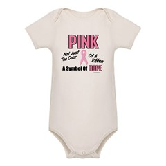 PINK Not Just A Color 3 Organic Baby Bodysuit