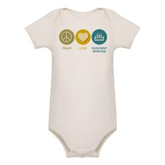 Peace Love Investment Banking Organic Baby Bodysuit