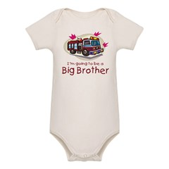 Big Brother Firetruck Organic Baby Bodysuit
