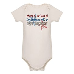 Move it or Lose it Organic Baby Bodysuit
