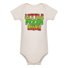 Little Pizza Dude Organic Baby Bodysuit