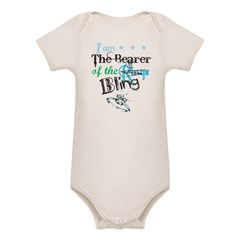 I am . . . The Bearer of The Bling Organic Baby Bodysuit