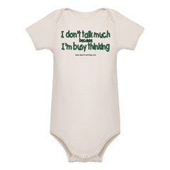 Don't Talk Much Organic Baby Bodysuit