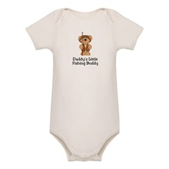 Daddy's Fishing Buddy Organic Baby Bodysuit