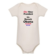 Mr. President Inauguration Obama Organic Baby Bodysuit