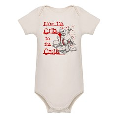 Crib to the Cage Hardcore Organic Baby Bodysuit