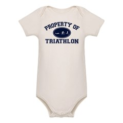 Property of Triathlon Icons Organic Baby Bodysuit