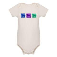 Color Row Curly Coated Organic Baby Bodysuit