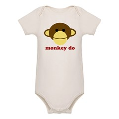 Monkey See, Monkey Do Organic Baby Bodysuit