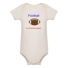 Football is my favorite subje Organic Baby Bodysuit