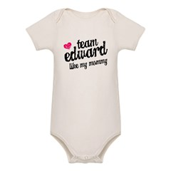Team Edward Mommy Organic Baby Bodysuit