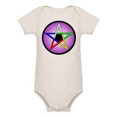 Elemental Pentacle Baby Creeper - 5 Elements Organic Baby Bodysuit