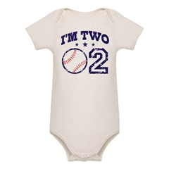 Two Year Old Baseball Organic Baby Bodysuit