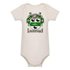 Sweeney Coat of Arms Infant Creeper Organic Baby Bodysuit
