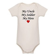 My Uncle Soldier Hero Infant Creeper Organic Baby Bodysuit