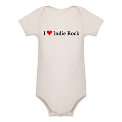 I Love Indie Rock Infant Creeper Organic Baby Bodysuit