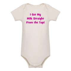 I Get My Milk Straight From T Organic Baby Bodysuit