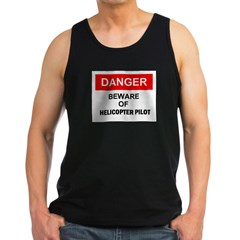 Beware/ Go Vertical Helicopter Ash Grey Men's Dark Tank Top