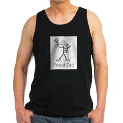 Proud Dad Ash Grey Men's Dark Tank Top