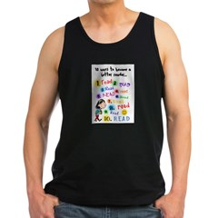 Read Better Ash Grey Men's Dark Tank Top