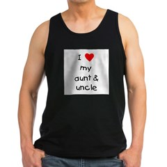 I love my aunt & uncle Men's Dark Tank Top