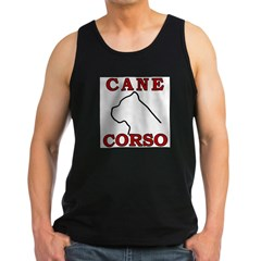 Cane Corso Logo Red Men's Dark Tank Top