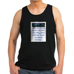 HOW WE TREAT EACHOTHER (Skyline) Men's Dark Tank Top