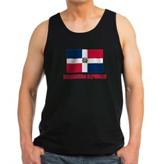 Dominican Republic Flag Men's Dark Tank Top